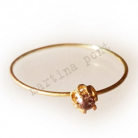 Anell d'or 18 kt amb diamant